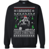Harambe Loved Christmas Sweater, T Shirt, Long Sleeve