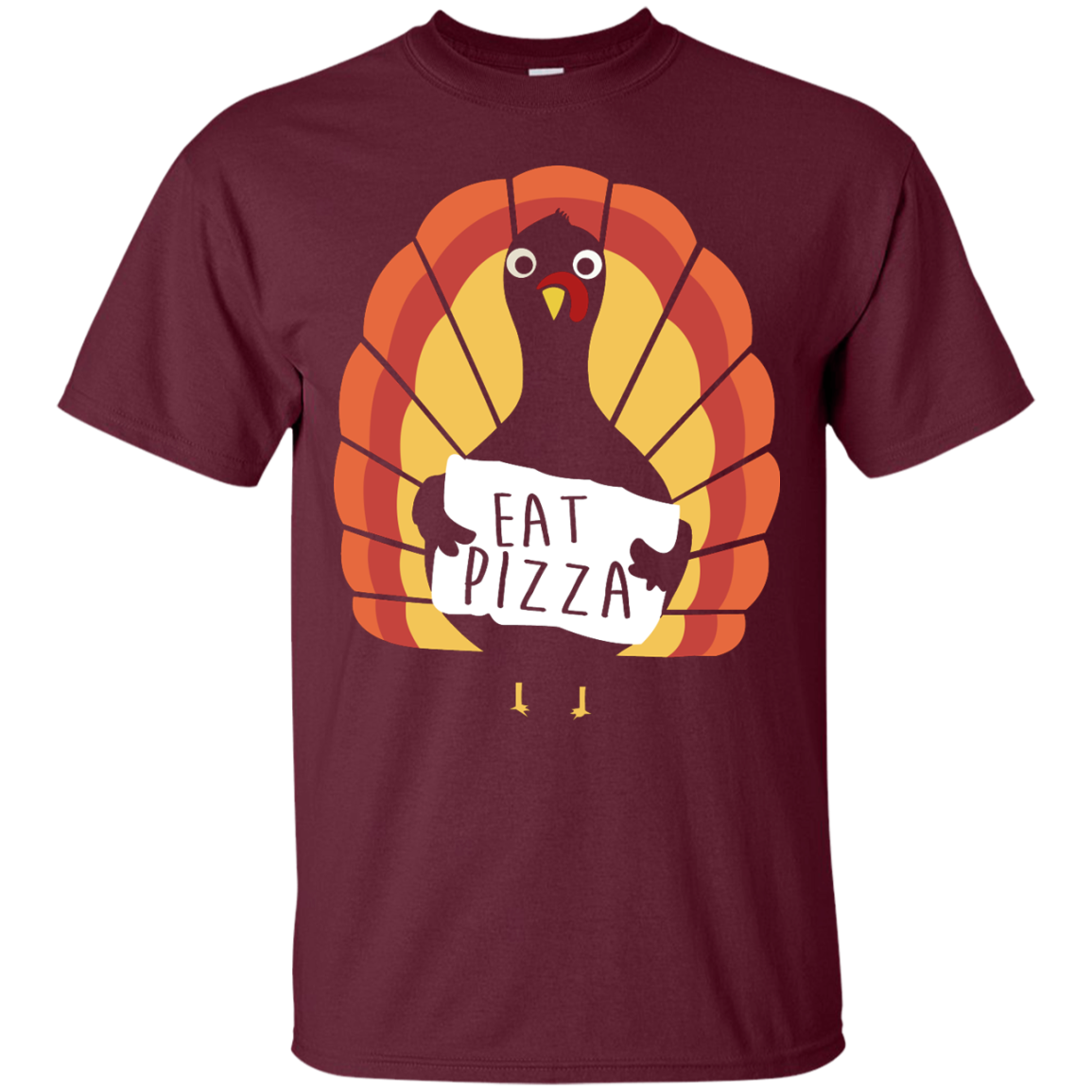 Eat Pizza Thanksgiving Funny Turkey Pizza T Shirt
