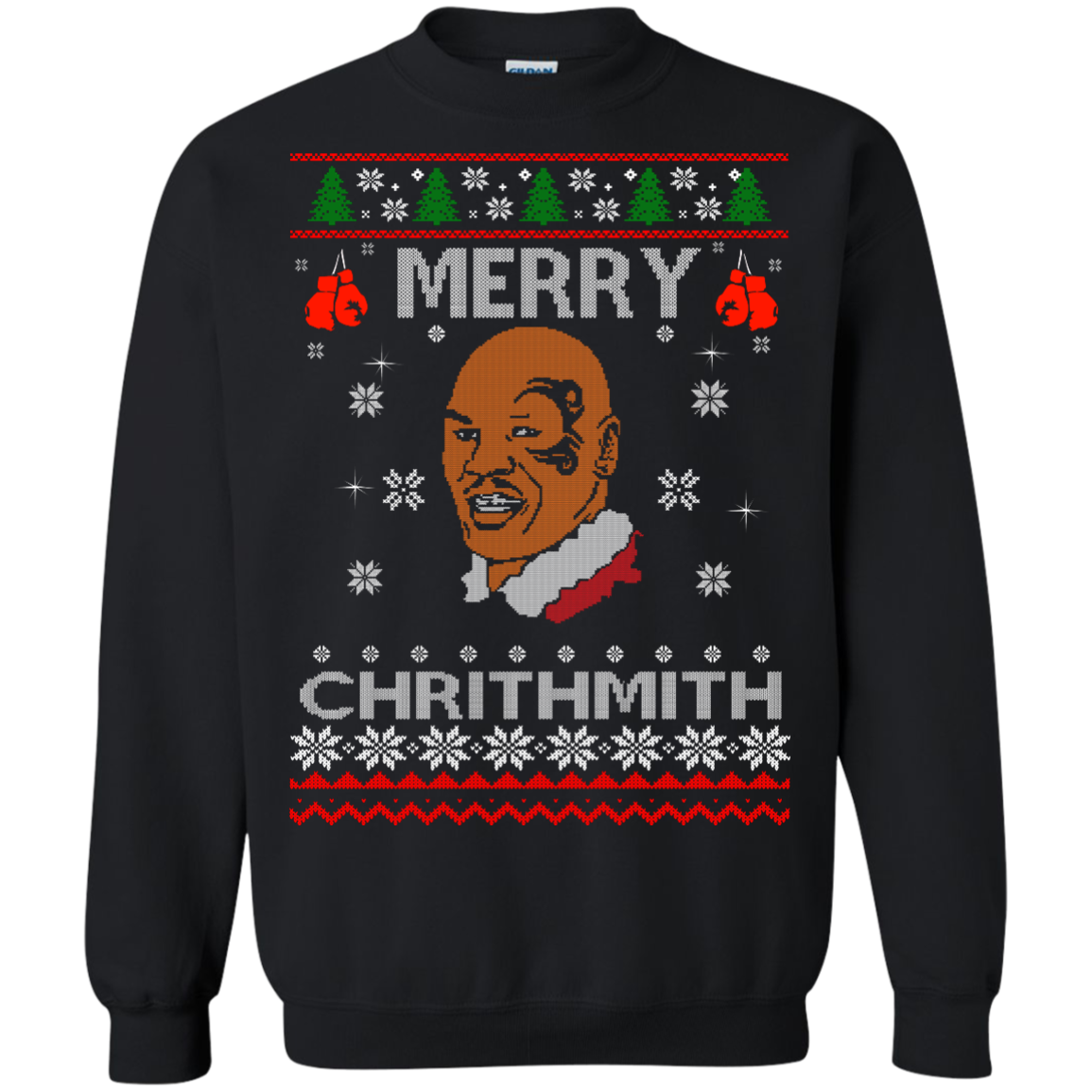 Merry Chrithmith Mike Tyson Ugly Christmas Sweater, T shirt
