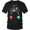 My bicycle is Calling tshirt, mobile call tshirt