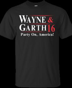 Wayne Garth for president 2016 t shirt & hoodies