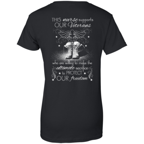 Nurse For Veterans This nurse support our veterans t shirt