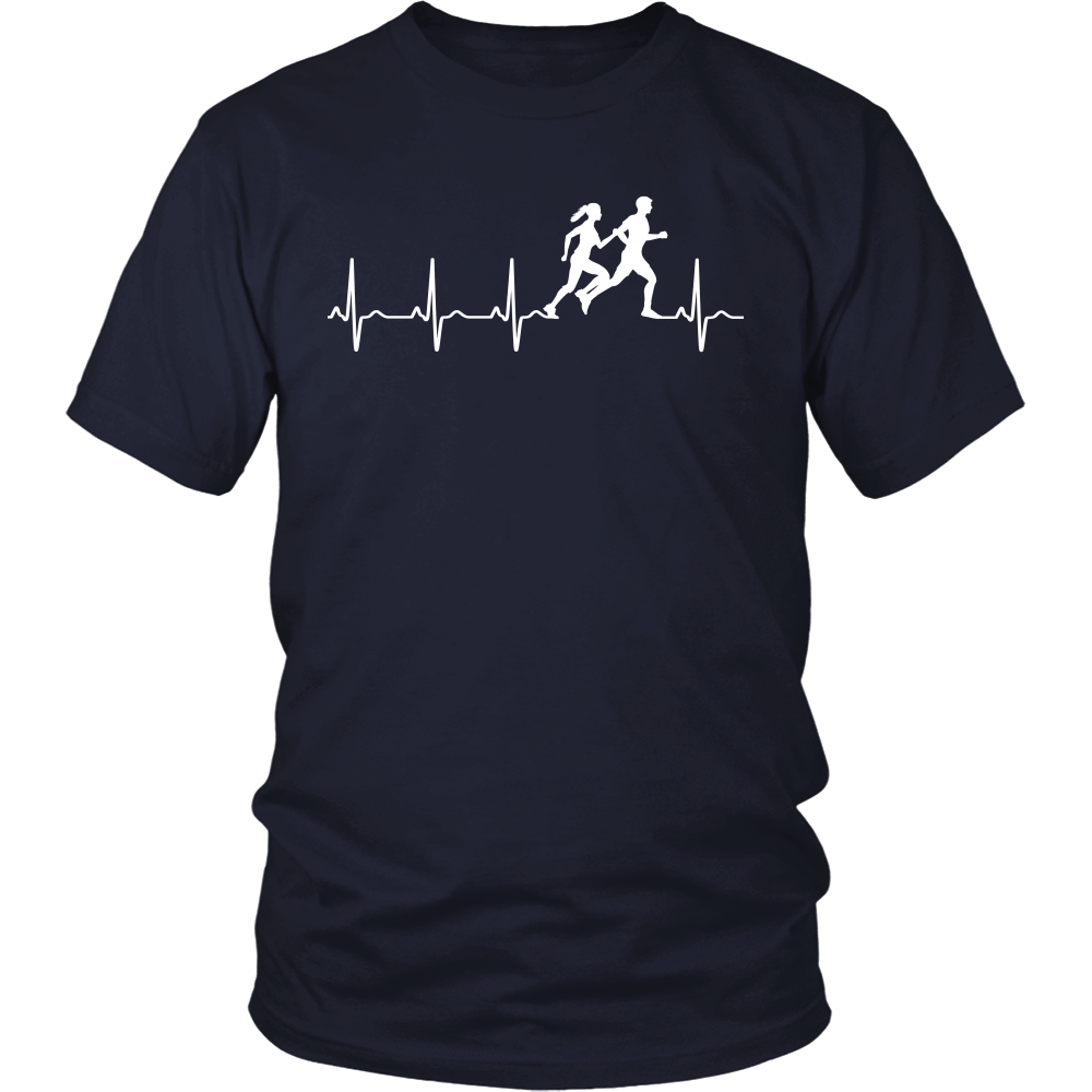 Love running heart beat t shirt, hoodies, tank top