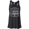 Cycling tank tops: That's what I do, I ride, I drink and I know things