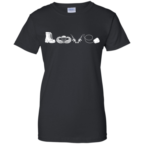 Airborne t shirt: Love, available as t shirt, tank top, hoodies