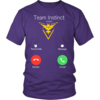Team Instinct is calling t-shirt & hoodies, Pokemon Go
