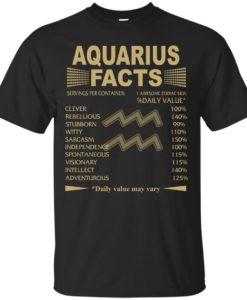 Aquarius Zodiac T Shirt, Aquarius Facts Tank Top